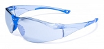 Global Vision Cruisin' Blue Tinted Clear Frame with Blue Tinted Mirror Lens