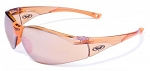 Global Vision Cruisin' Tangerine Tinted Clear Frame with Tangerine Tinted Mirrored Lenses