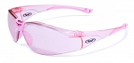 Global Vision Cruisin' Pink-Tinted Clear Frame with Pink-Tinted Mirrored Lens
