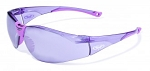 Global Vision Cruisin' Purple-Tinted Clear Frame with Purple-Tinted Mirrored Lenses